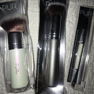 PUR makeup brushes set of 3